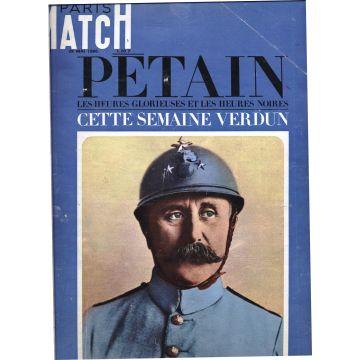 2 numeros Paris Match Pétain n°894 et 896 Les heures glorieuses et les heures