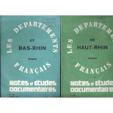 2 revues 68 Haut-Rhin et 67 Bas-Rhin