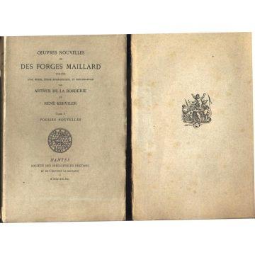2 tomes : Oeuvres nouvelles Des Forges Maillard publiées avec notes biographique