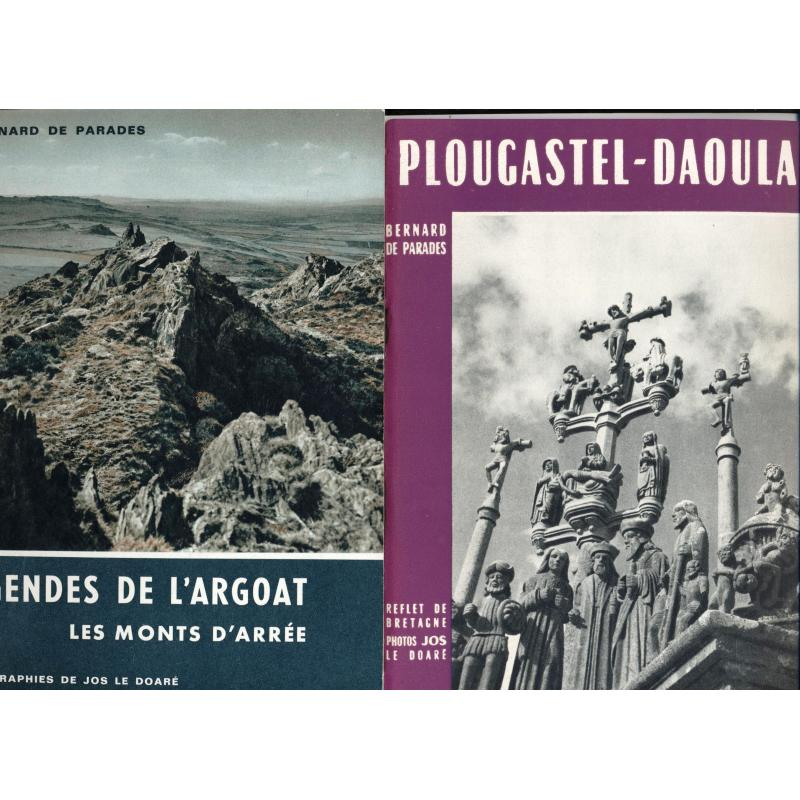 4 brochures Roscoff pardons de Bretagne legendes de l'Argoat Plougastel-Daoulas