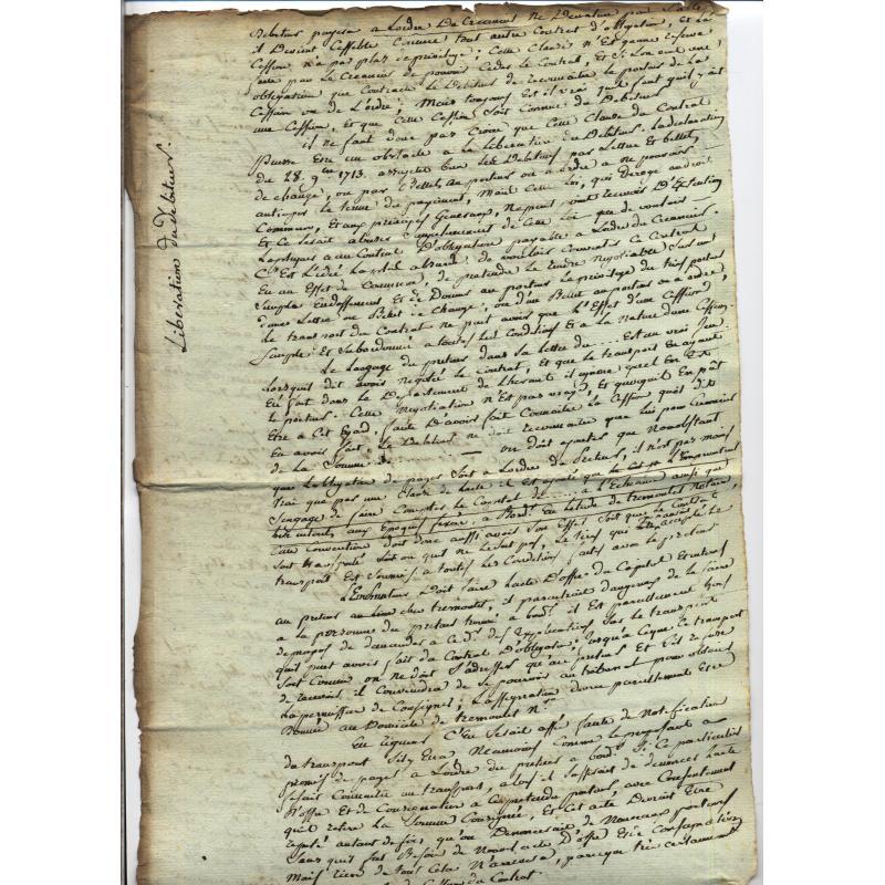 5 Vieux papiers droit privé notarié du XVIIIè siècle dont reçu Mr de Luxembourg