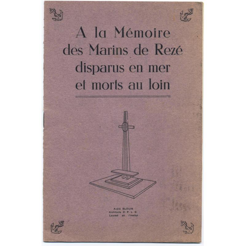 A la mémoire des marins de Rezé disparus en mer et morts au loin