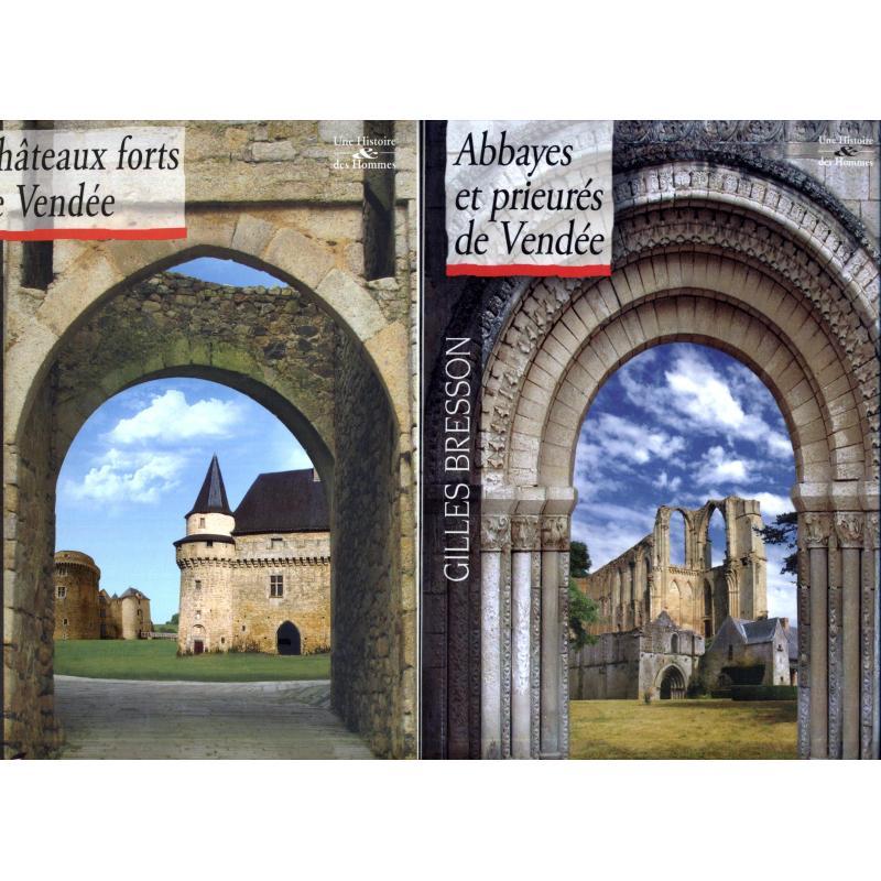 Abbayes et prieurés + chateaux-forts de Vendée comme neufs