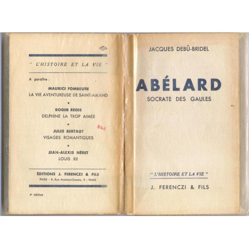 Abelard Socrate des Gaules PORT GRATUIT