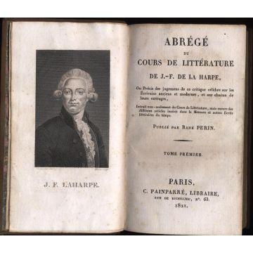 Abrege du cours de litterature de J.F. de la Harpe tome premier