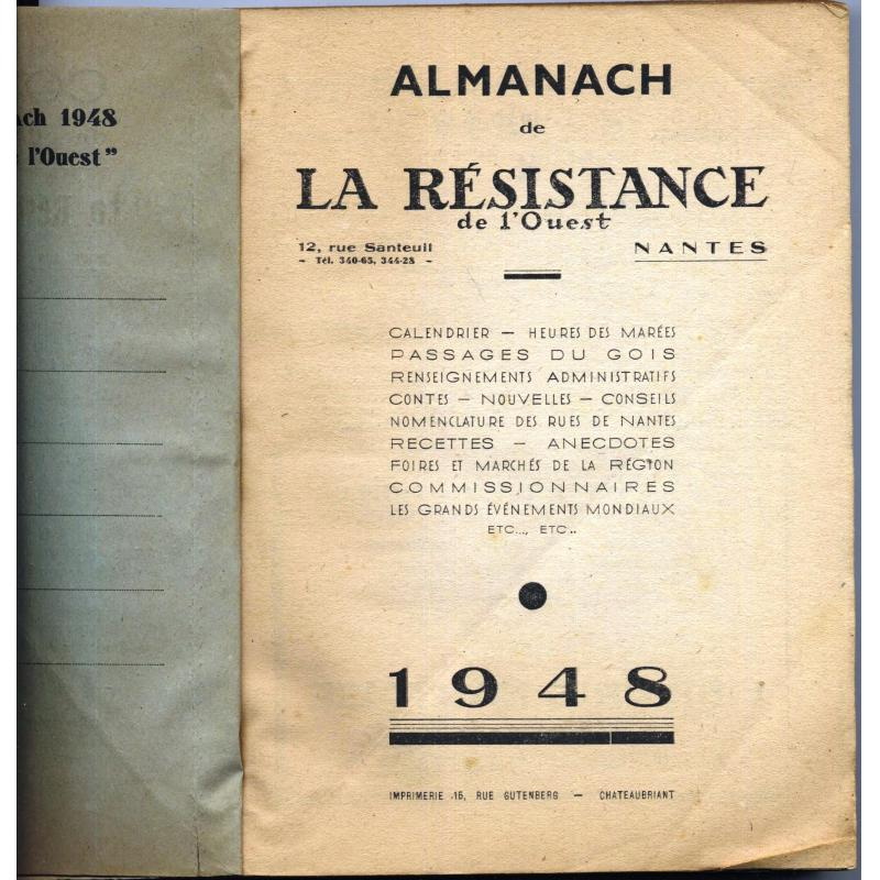 Almanach 1948 La résistance de l'ouest