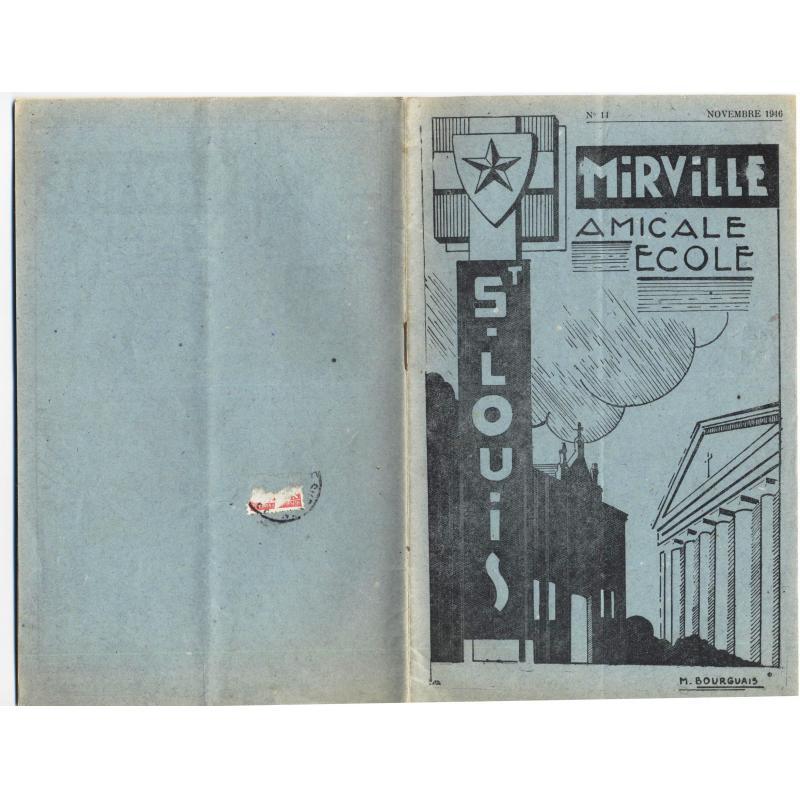 Amicale de l'ecole Mirville-Saint-Louis n°14 + programme 1930