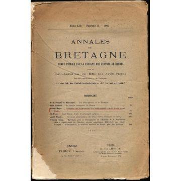 Annales de Bretagne tome LIII fascicule II