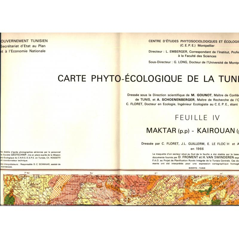 Annales de l'Institut national de la recherche agronomique Tunisie vol.40 +carte