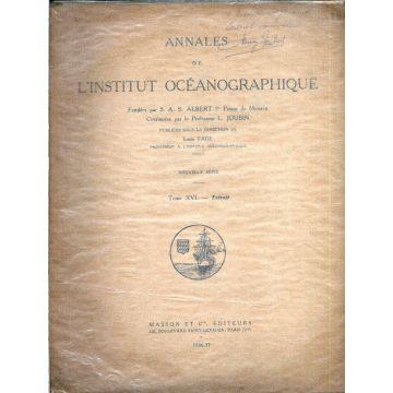 Annales de l'institut océanographique Extrait du tome XVI
