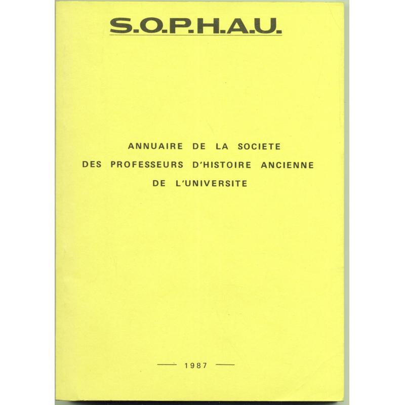 Annuaire de la société des professeurs d'histoire ancienne de l'université