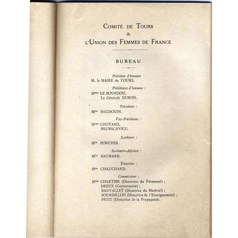 Assemblée générale de 1915 Union des Femmes de France