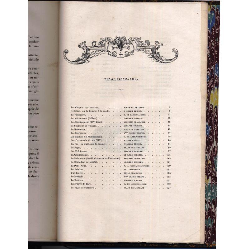 Autrefois ou le bon vieux temps types français du dix-huitième siècle