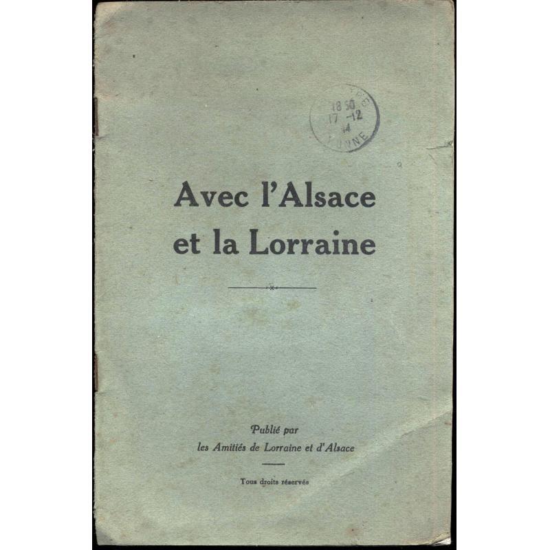 Avec l'Alsace et la Lorraine