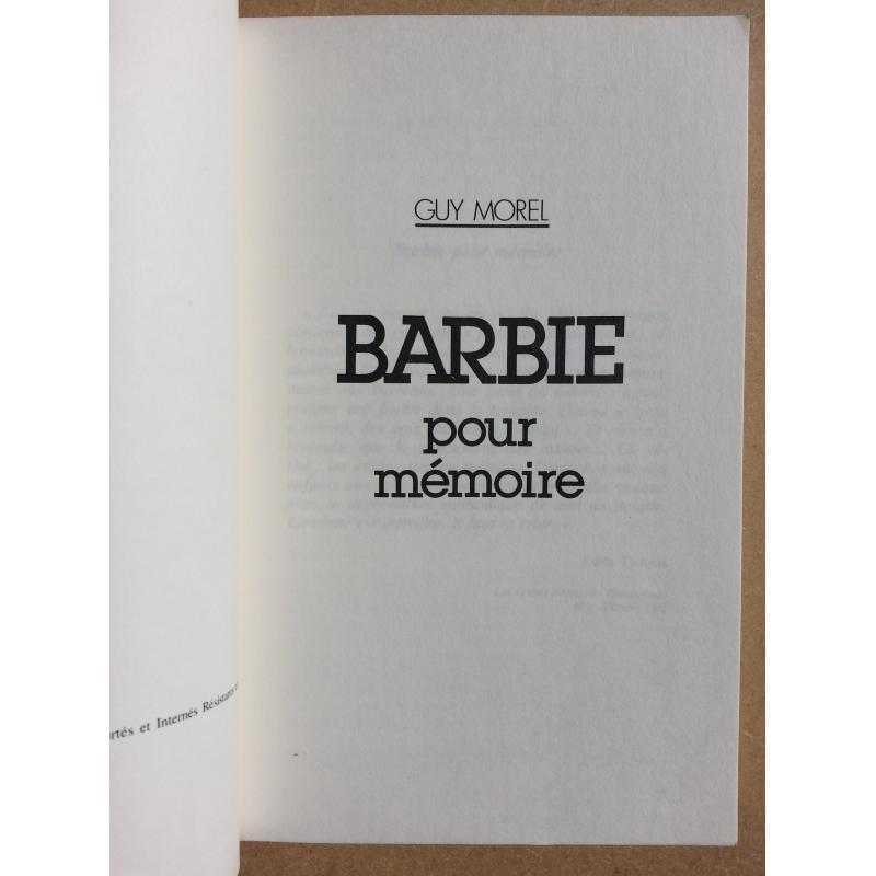 Barbie pour mémoire