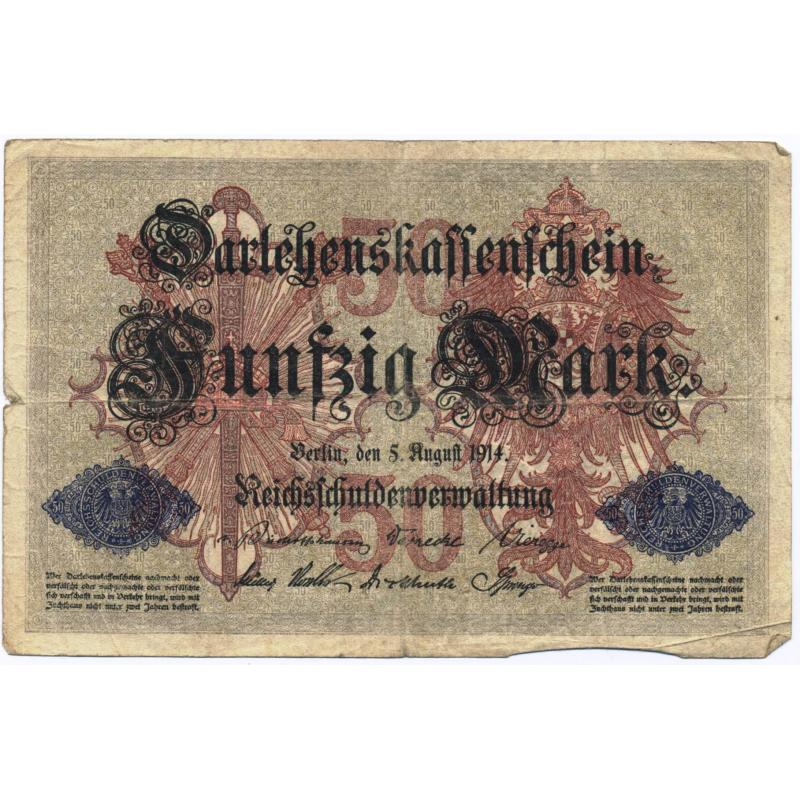 Billet de 50 mark 1914 - fünfzig Mark