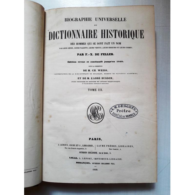 Biographie universelle ou dictionnaire historique des hommes qui se sont fait un