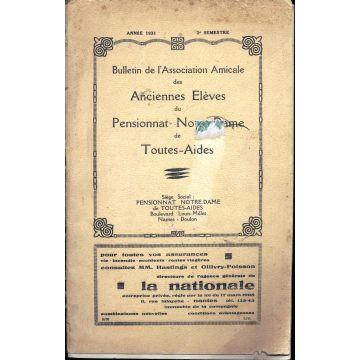 Bulletin association amicale anciennes élèves Pensionnat Notre-Dame Toutes-Aides