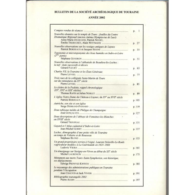 Bulletin de la société archéologique de Touraine Tome XLVIII