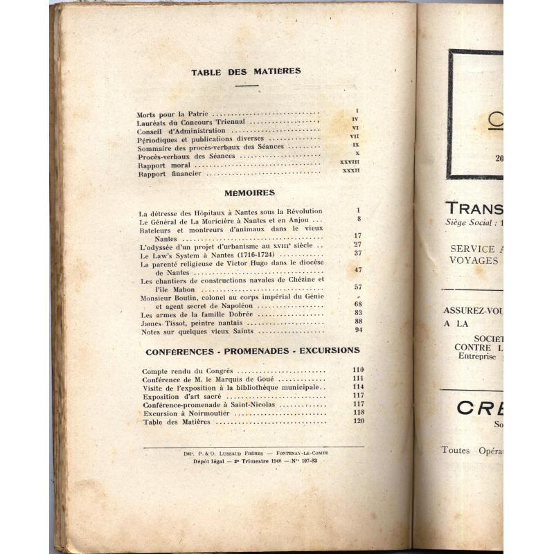 Bulletin de la Société archéologique et historique de Nantes et Loire Inférieure