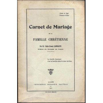 Carnet de mariage de la famille chrétienne
