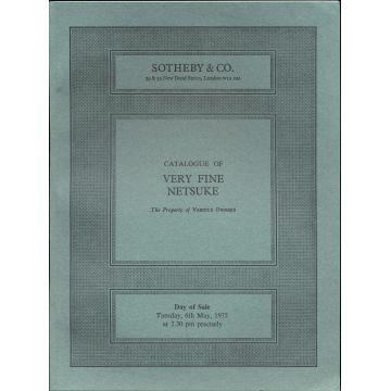 Catalogue de vente aux enchères Sotheby of very fine netsuke