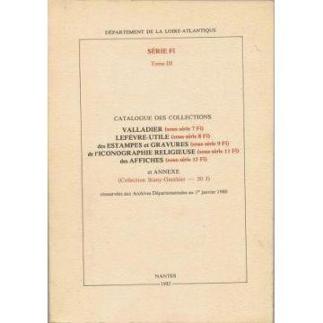 Catalogue des collections Imprimés tome III