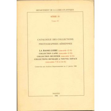 Catalogue des collections Photographies aériennes série FI tome IV