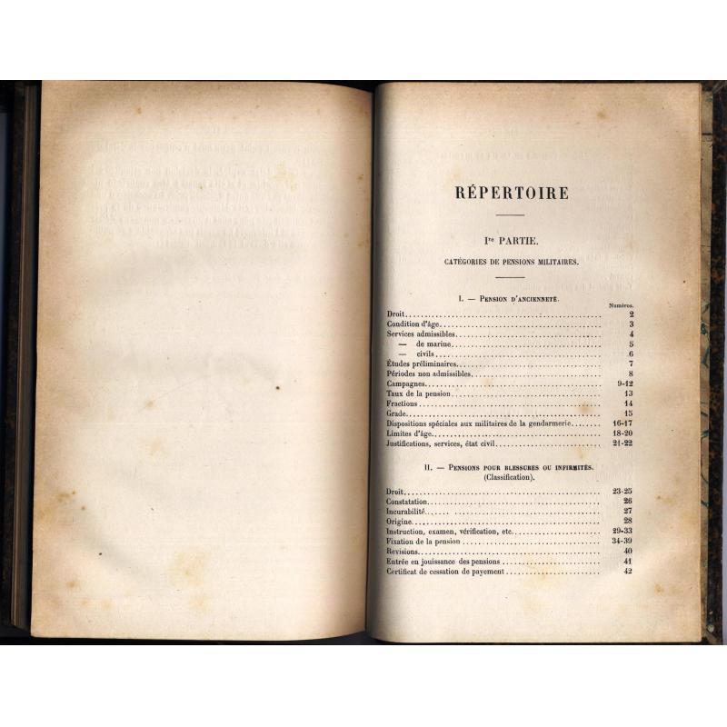 Code manuel des pensions de l'armée de terre 1887