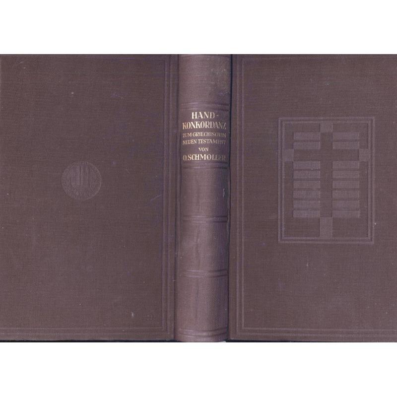 Concordantiae Novi Testamenti Graeci  Handkonkordanz zum griechischen NT