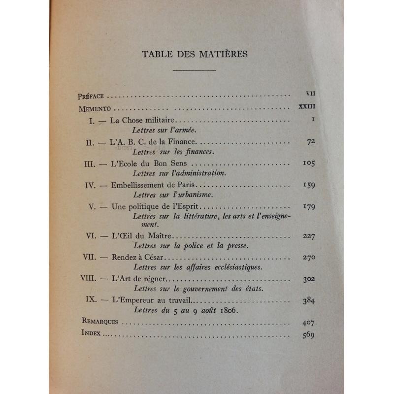 Correspondance de Napoleon six cents lettres de travail (1806-1810) non coupé