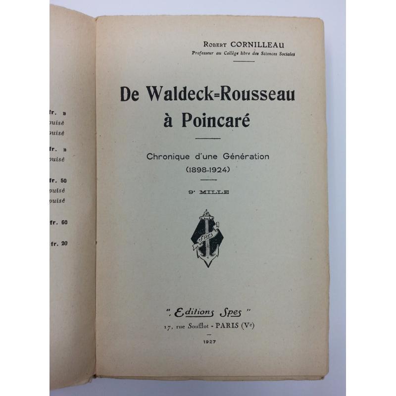 De Waldeck-Rousseau à Poincaré