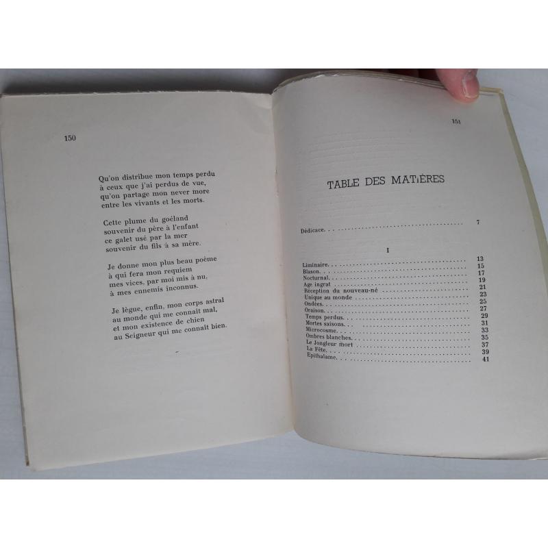 Deuxième recueil de poèmes avec ENVOI AUTEUR