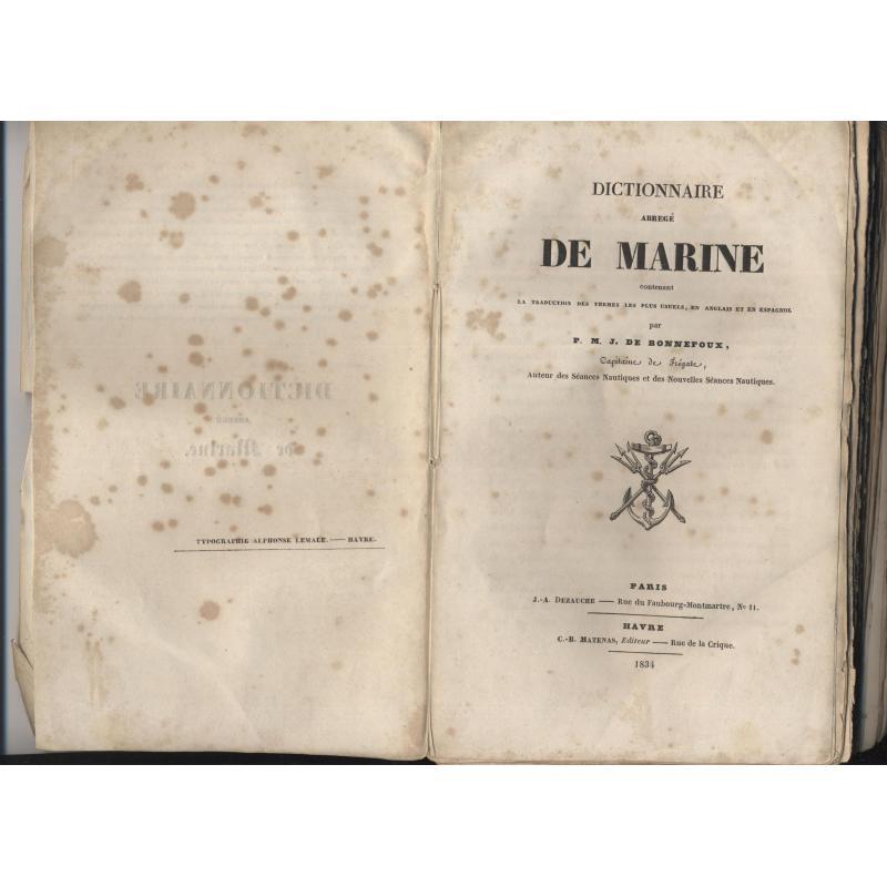 Dictionnaire abrégé de marine