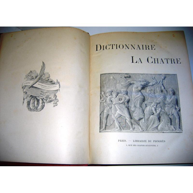 Dictionnaire de La Chatre en 4 tomes