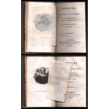 Discours et melanges litteraires de Villemain 2 tomes