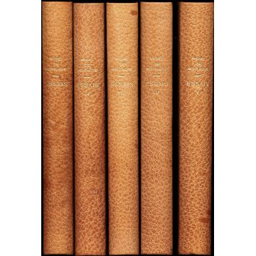 Essais de Michel de Montaigne, 5 tomes