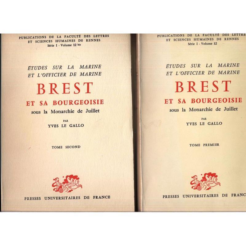 Etudes sur la Marine et l'officier de Marine Brest bourgeoisie monarchie Juillet