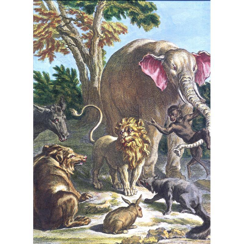Fables de La Fontaine illustrées par Oudry 2 tomes