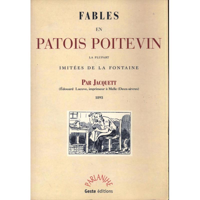 Fables en patois poitevin la plupart imitées de la Fontaine