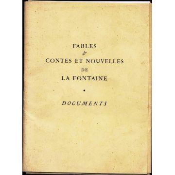 Fables et contes et nouvelles de la Fontaine - documents