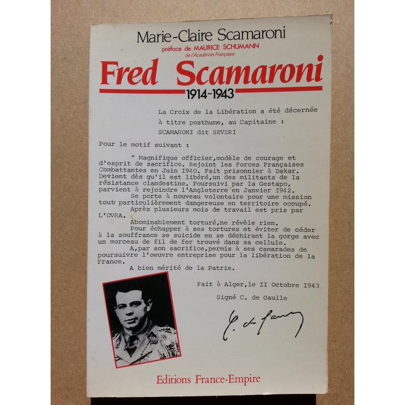 Fred Scamaroni Envoi de l'auteur à Michel Debré