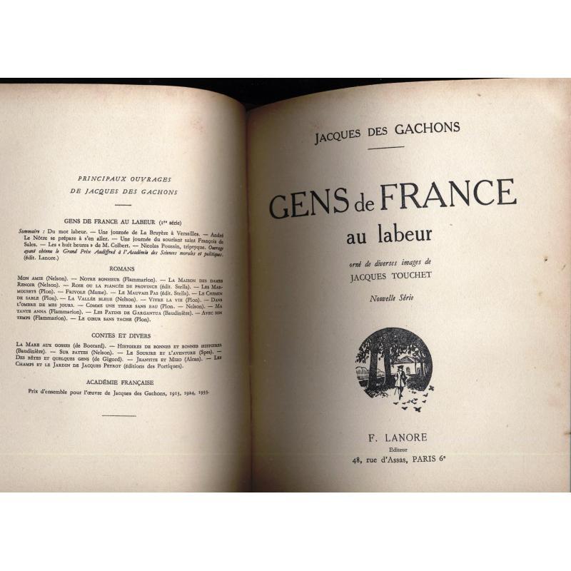 Gens de France au labeur 2 tomes en un volume illustré par Vox et Touchet