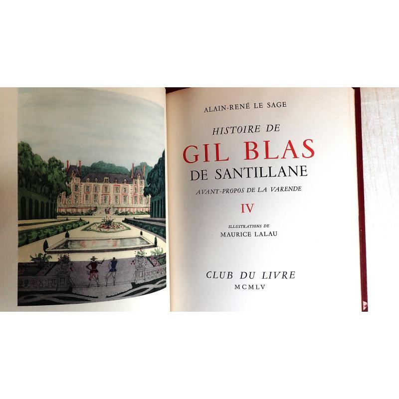Gil Blas de Santillane 4 tomes numérotés en TBE