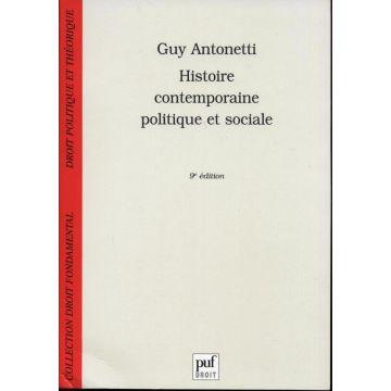 Histoire contemporaine politique et sociale