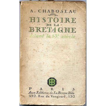 Histoire de la Bretagne avant le 13è siècle