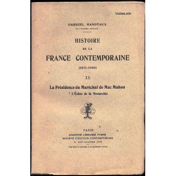 Histoire de la France contemporaine (1871-1900)  Tome 2 : Mac-Mahon