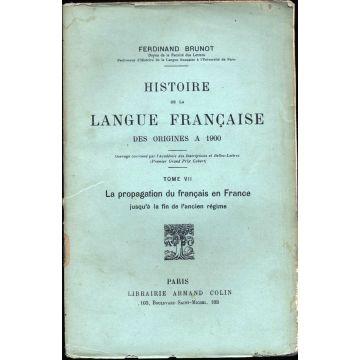 Histoire de la langue francaise des origines à 1900 tome 7