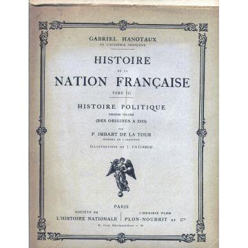 Histoire de la nation francaise Histoire politique 3 tomes