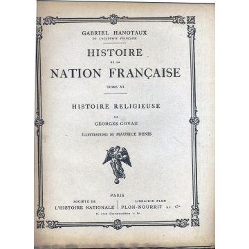 Histoire de la nation francaise Histoire religieuse